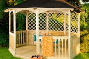 Фото 5 Решетки для беседки: особенности конструкций и 75 вдохновляющих идей для вашего сада
