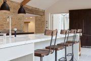 Фото 11 Стол из искусственного камня на кухню: воплощение доступного аристократизма и 70 элегантных вариантов