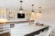 Фото 27 Стол из искусственного камня на кухню: воплощение доступного аристократизма и 70 элегантных вариантов