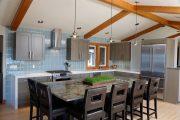 Фото 38 Стол из искусственного камня на кухню: воплощение доступного аристократизма и 70 элегантных вариантов