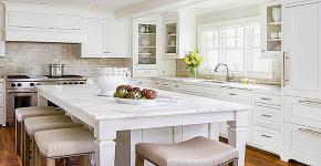 Стол из искусственного камня на кухню: воплощение доступного аристократизма и 70 элегантных вариантов фото