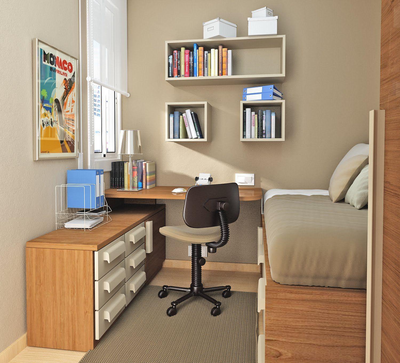 Дизайн рабочего места школьника в комнате фото.