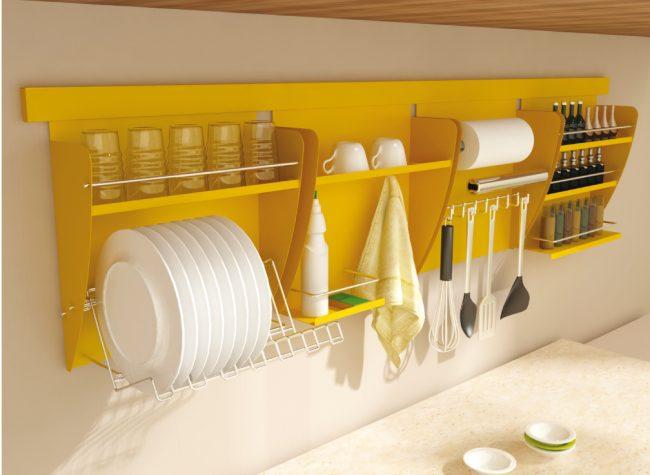 Навесная многофункциональная сушилка для посуды