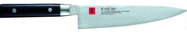 Японский нож для кухни kasumi с клинком из сверхпрочного металла