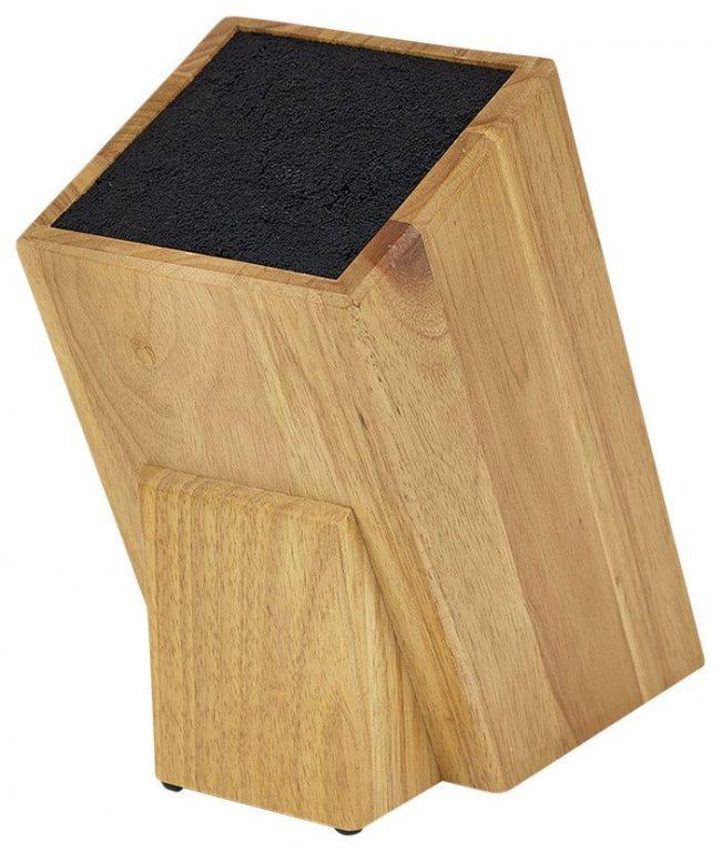 Специальная подставка из дерева с влаговпитывающим наполнителем для правильного хранения японских ножей