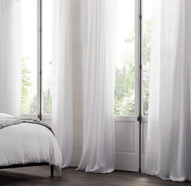 Пышная и мягкая вуаль в спальне