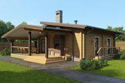 Фото 32 Проекты бань из клееного бруса: 70+ комфортных вариантов для загородного коттеджа