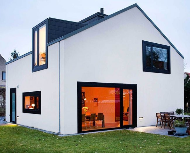 Дом в скандинавском стиле с мезонином