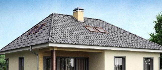 Вальмовая четырехскатная крыша