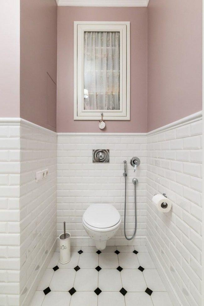 Туалет с гигиеническим душем со смесителем скрытого монтажа
