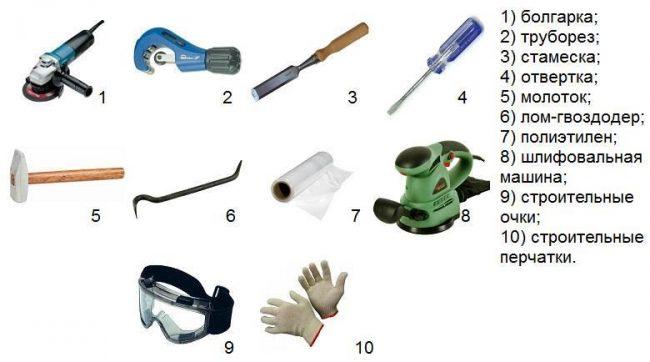 Инструменты необходимые для установки гигиенического душа