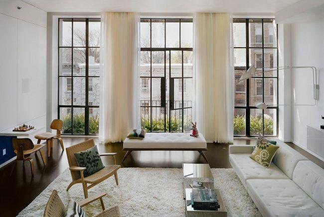 Стильный интерьер современной итальянской гостиной