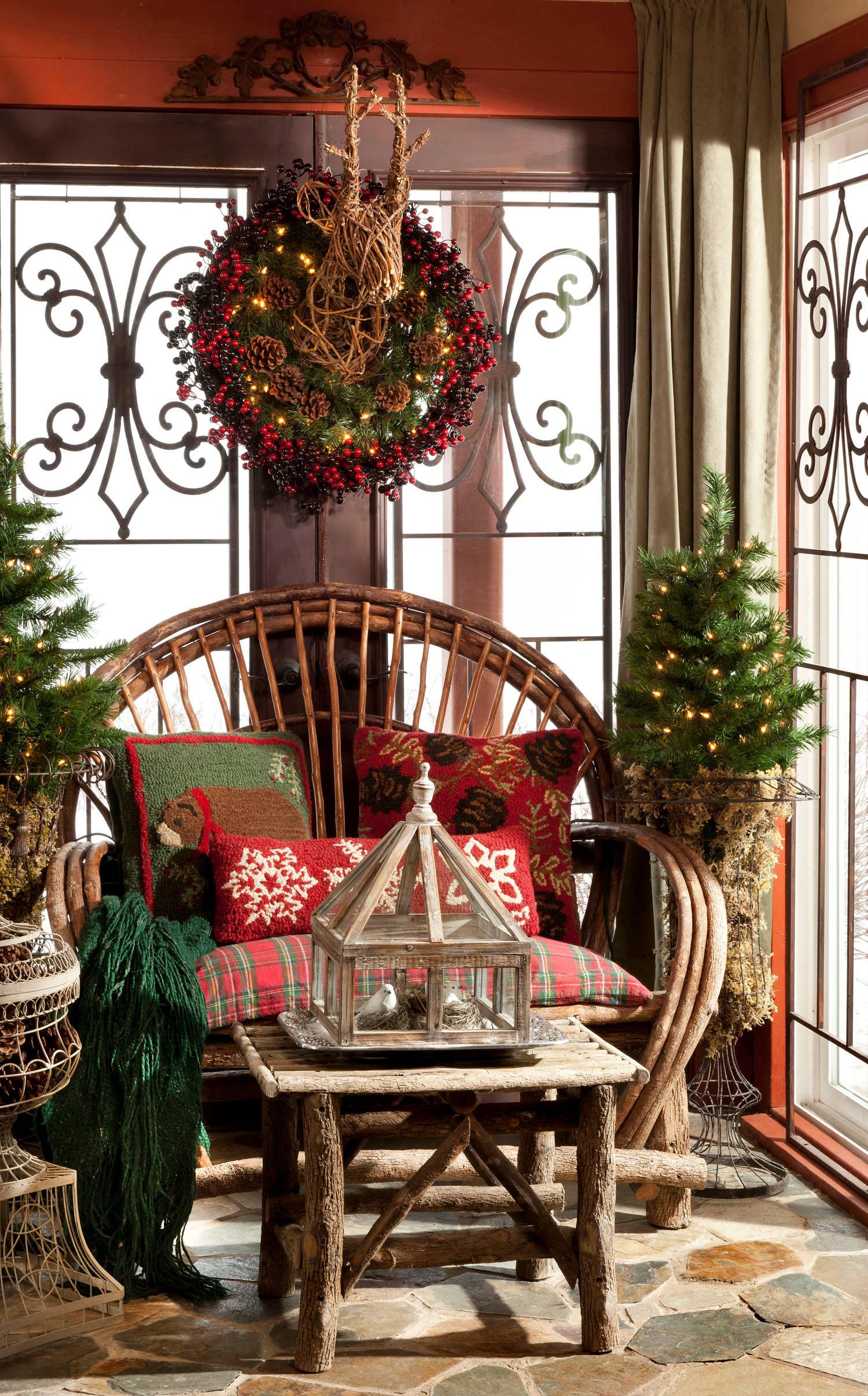 Новогоднее украшение сада фото