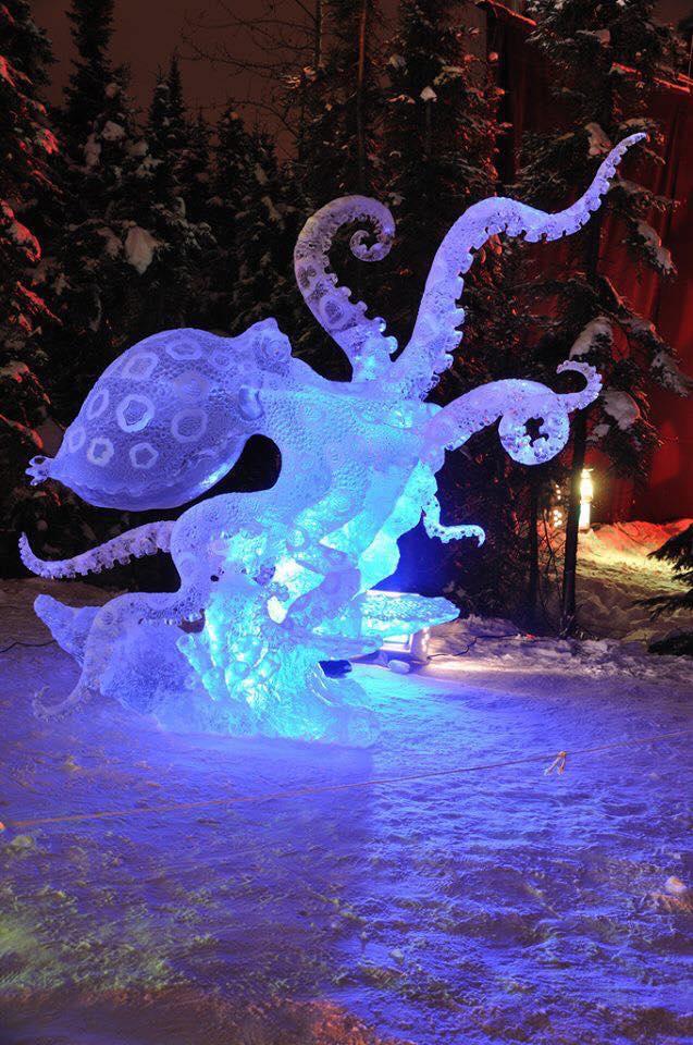 В последнее время ледяные скульптуры становятся очень популярны