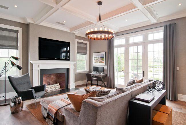 Комфортная гостиная в современном стиле