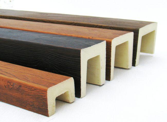 Декоративные балки из полиуретана для кессонного потолка
