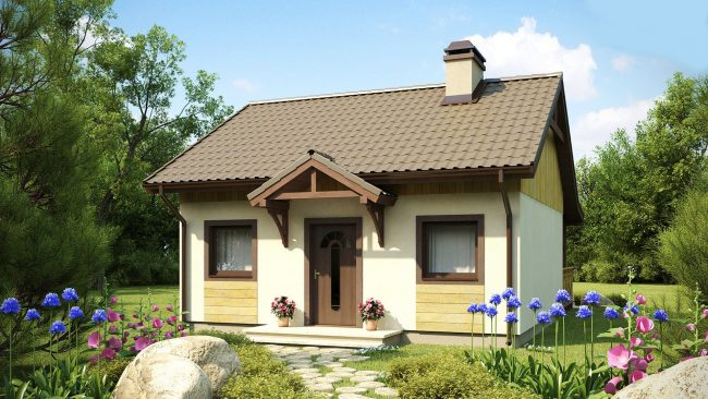Проект мини-дома из комбинированных материалов