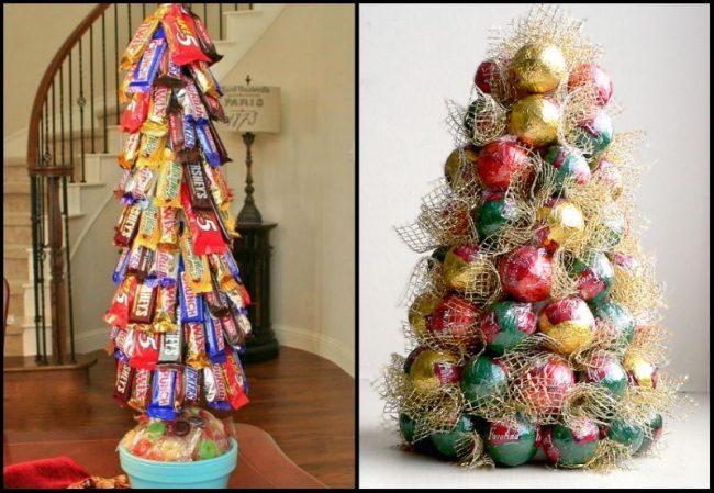 Вкусные и простые елочки из конфет порадуют всех