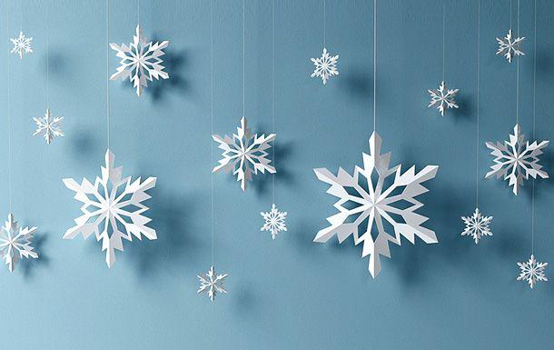 Бумажные снежинки - самое простое украшение