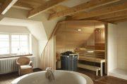 Фото 2 Печи для бани на дровах с баком: 90 максимально функциональных и продуманных реализаций