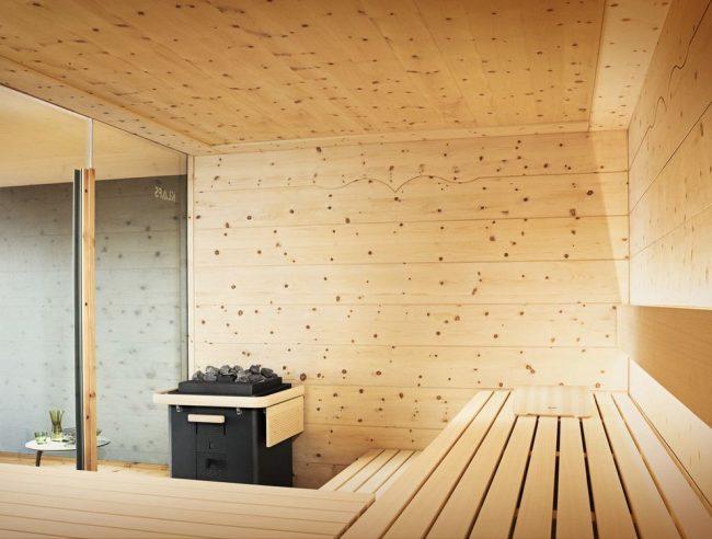 Сауна для квартиры с дровяной печью