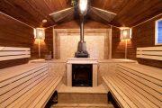 Фото 22 Печи для бани на дровах с баком: 90 максимально функциональных и продуманных реализаций