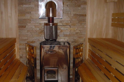 Фото 24 Печи для бани на дровах с баком: 90 максимально функциональных и продуманных реализаций