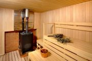 Фото 28 Печи для бани на дровах с баком: 90 максимально функциональных и продуманных реализаций