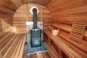 Фото 29 Печи для бани на дровах с баком: 90 максимально функциональных и продуманных реализаций