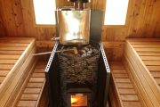 Фото 31 Печи для бани на дровах с баком: 90 максимально функциональных и продуманных реализаций