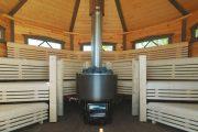 Фото 32 Печи для бани на дровах с баком: 90 максимально функциональных и продуманных реализаций