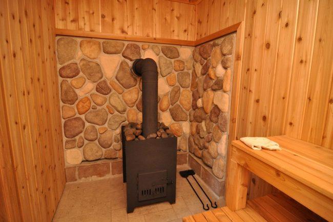 Чугунная дровяная печь для бани