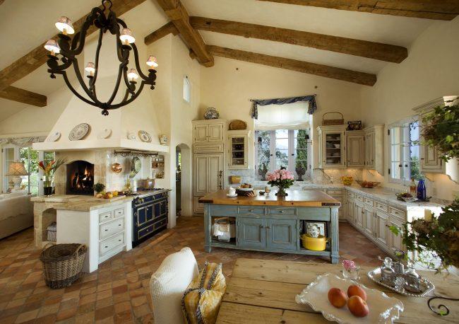 Великолепная кухня в стиле прованс