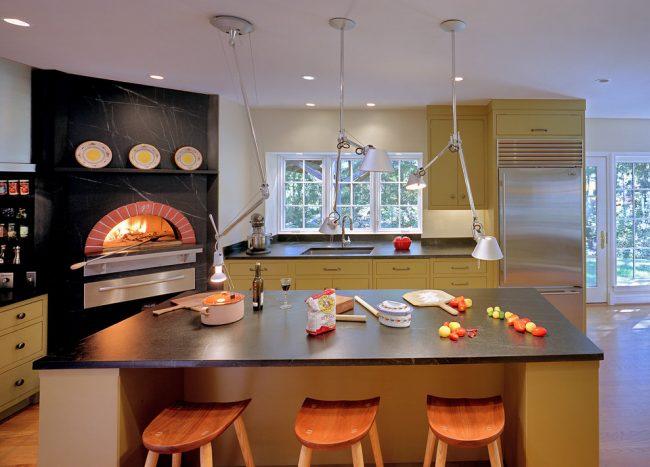 Игра контрастов в дизайне современной кухни