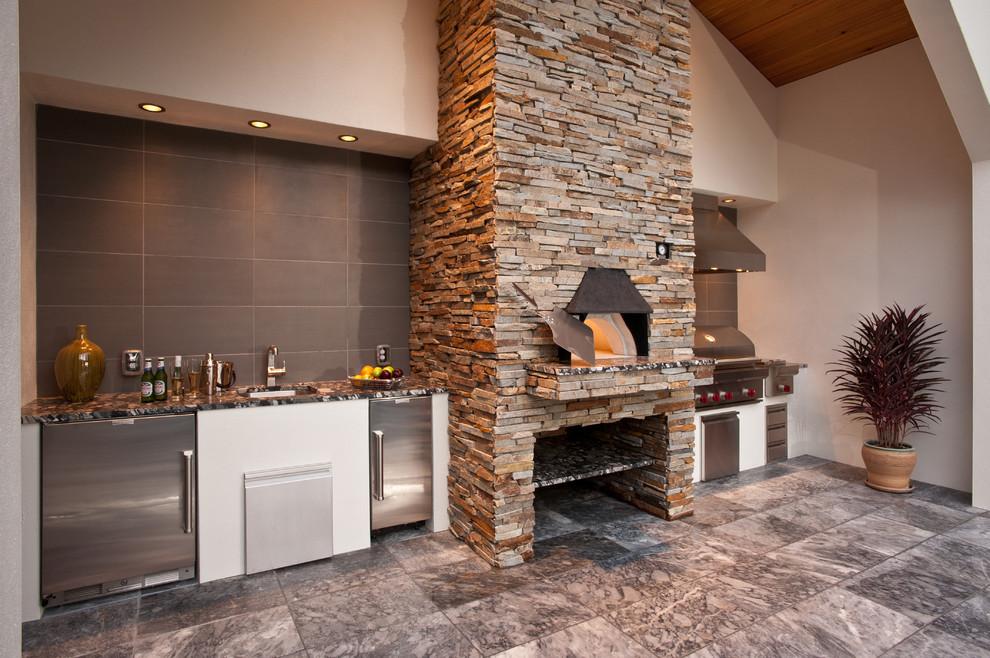 Дизайн кухни и печки в своем доме
