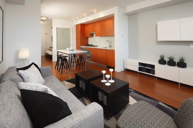 Перепланировка однокомнатной квартиры в современном стиле