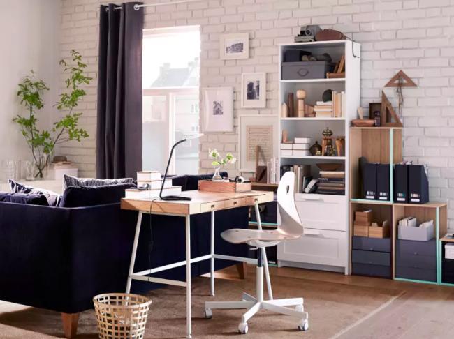 Лаконичный интерьер, дополненный мебелью IKEA