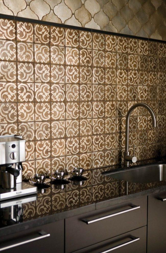 Плитка зелидж в интерьере кухни