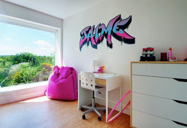 Пробковый пол в интерьере детской комнаты для девочки