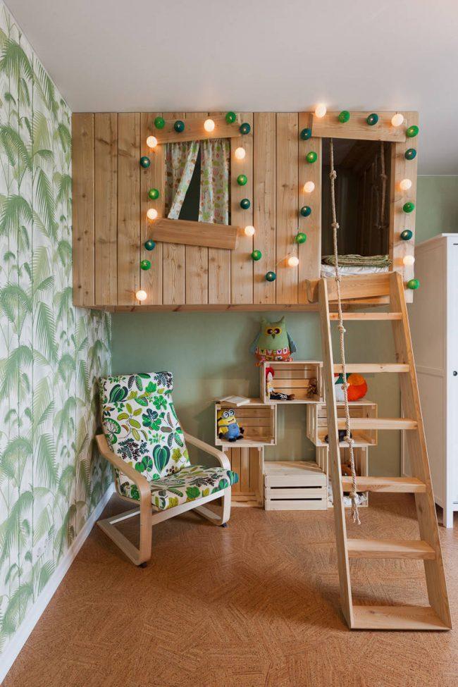 Пробковое покрытие благодаря своим качествам идеально подойдет для детской комнаты