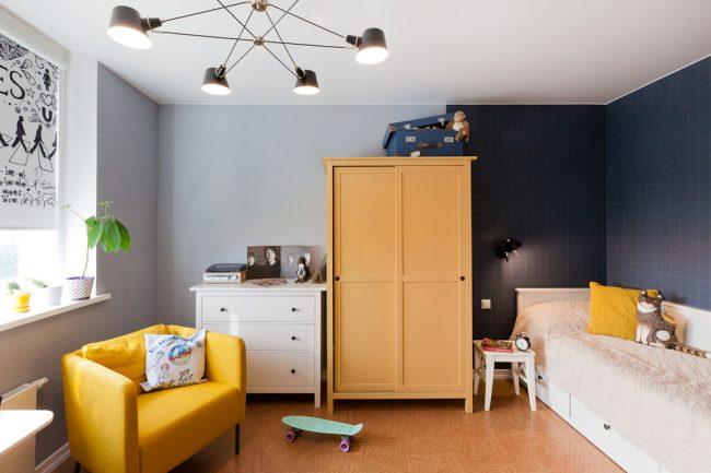 Стильная и очень комфортная детская комната