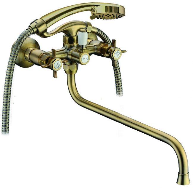 Бронзовый смеситель для ванны двухвентильный Elghansa PRAKTIC 2702660