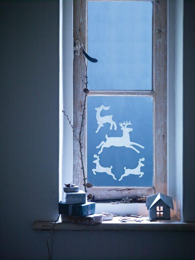 Самим украсить окна к Новому году - что может быть интересней для детей!