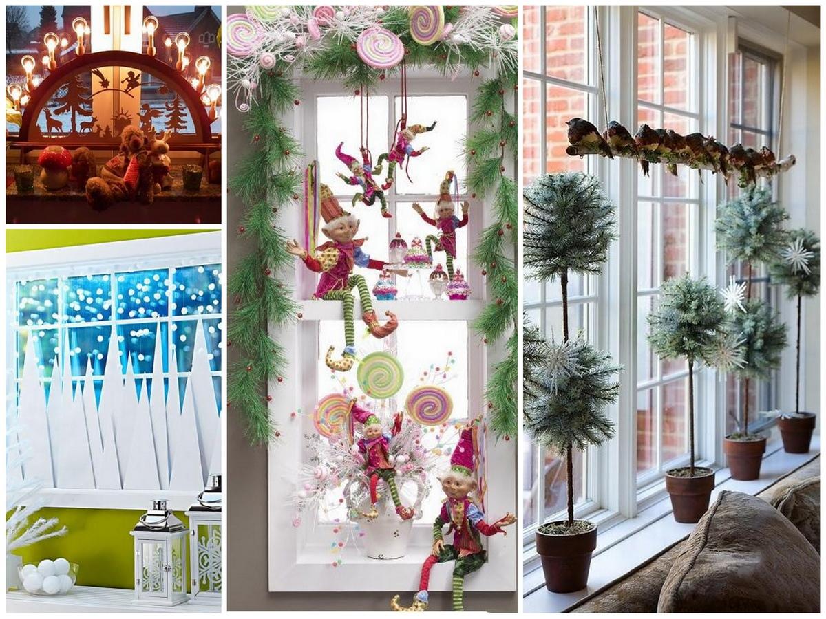 Новогоднее украшение для окна своими руками
