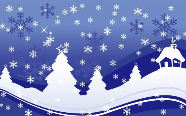 Пример новогодней композиции из бумаги своими руками