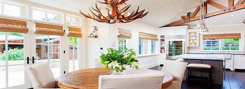 Бамбуковые шторы на дверной проем: 80 гармоничных идей экостиля в интерьере