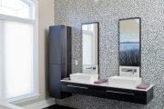 Фото 2 Белая мозаика в ванной комнате: 80+ интерьерных воплощений цветового пуризма и чистоты