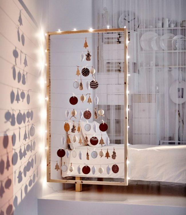 Отличная идея новогодней красавицы для детской комнаты