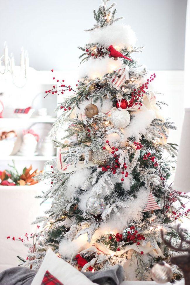 Как украсить елку на Новый год 2017: снежная мишура и сочная калина украсят новогоднюю ёлочку