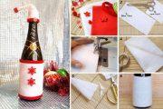 Фото 45 Украшаем бутылку шампанского на Новый год: эффектный аксессуар и идеальный подарок своими руками